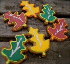 Ma Snax Autumn Leaf Cookies