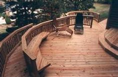 Multi-Level Circular Deck with Benches - Wood Decks Photo Gallery ...