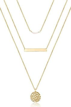 Layered necklaces are having a moment, and this piece gives you the look without having to figure out on your own which ones to pair together. #amazonfinds #jewelery #accessories #fashion #southernliving Southern Fashion, Southern Style, Gold Plated Bracelets, Gold Plated Necklace, Bar Stud Earrings, Gold Hoop Earrings, Trendy Jewelry, Jewelry Trends, Simple Bracelets