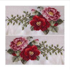 Uzun zamandır sessiz,sakin paylaşmayı bekleyen kanaviçe çiçeklerimiz...❤️❤️ Herkese güzel bir haftasonu dileklerimle...#kanaviçe #crossstitch #çarpıişi #handmade #elişi #nakış #embroidery #embroideryflowers #needleart #needlework # Small Cross Stitch, Cross Stitch Fabric, Cross Stitch Rose, Cross Stitch Flowers, Cross Stitch Designs, Cross Stitch Embroidery, Hand Embroidery, Cross Stitch Patterns, Embroidery Designs