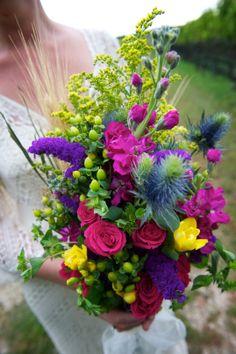 Brides wildflower bouquet  Photographed by Caroline of Caroline Rochetta Photography in Long Island NY ~*~*~ Married at Paunanok Vineyard on Long Island ~*~*~http://www.paisleyeventsct.com/ ~*~*~ 203-300-9809