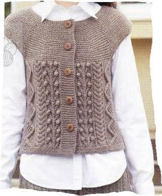 Easy Knitting Tutorial For Beginners - Diy Crafts Knitting Blogs, Easy Knitting, Crochet Blouse, Knit Crochet, Punto Fair Isle, Knitting Magazine, Knit Vest, Crochet Stitches, Knitwear