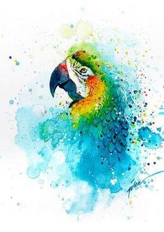 Parrot • watercolor painting • A3 • art print