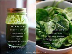 spirulina juice  salad dressing