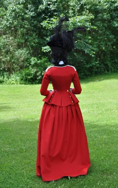 Before the Automobile: Late 1770's riding habit in the style of Lady Wosley, 2012 backside