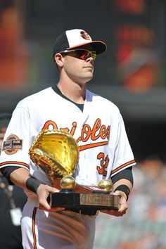 Matt Wieters and his Gold Glove.