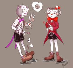 Embedded King Cup, Cuphead Game, Alastor Hazbin Hotel, Deal With The Devil, Bendy And The Ink Machine, Creative Art, Really Cool Stuff, Comic Art, Videogames