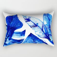 Jungle Blues Rectangular Pillow by lostmarketplace. Worldwide shipping available. leaves, ferns and botanicals.