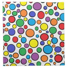 Colorful Polka Dots Cloth Napkins