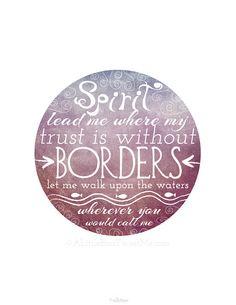 Oceans Song Inspired. Spirit Lead Me. by aLittleBirdTweetme, $7.00
