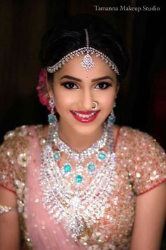 Gorgeous Indian bride in Diamond jewellery