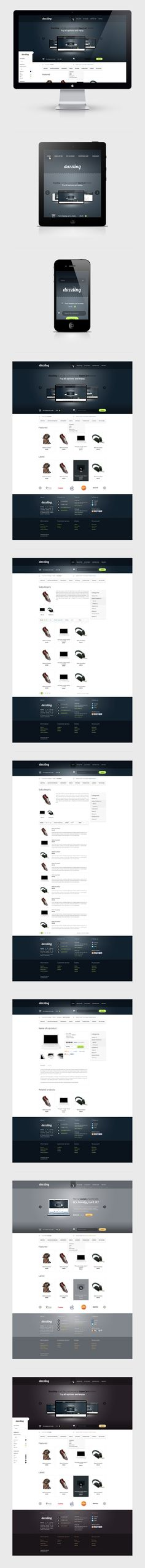 Dazzling by Paweł Świniarski, via Behance - second navigation