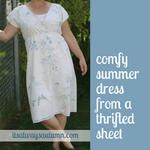 sew: summer dress from a thrifted bedsheet