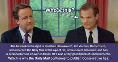 #CameronMustGo Ever wondered why the Daily Mail worship the Tories?