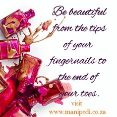 Be beautiful from the tips of your fingernails to the end of your toes! Visit ManiPedi Nail Bar in Cape Town today. Book your appointment via www.manipedi.co.za