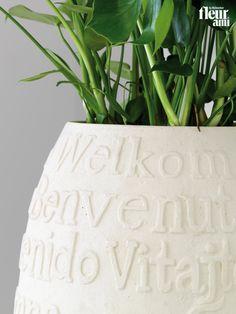 WELCOME planter by fleur ami ● Pflanzgefäß von fleur ami