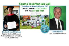 Tonight's special call guest will be #Xooma CEO Ron Howell. Ron's ongoing commitment to make a positive and lasting difference in people's lives resulted in a mission to Change the Health of a Generation – both physically and financially.