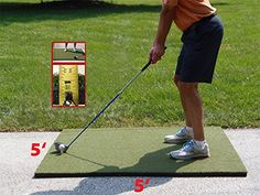 DufferTM Commercial Golf Mats Great for your backyard or home golf space. Use every club in your bag and practice your all important chip and pitch shots in your own backyard. Indoor Golf Simulator, Golf Mats, Golf Training Aids, Golf Simulators, Golf Channel, Play Golf, Commercial, Garage Storage, Pitch