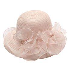 TININNA Femmes Mode Pliable Plage Capeline de Paille Anti-UV Large Bord Bow D/écoration Chapeau De Soleil Hat Bleu