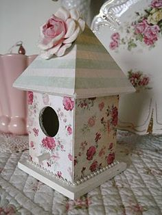 paper covered bird house