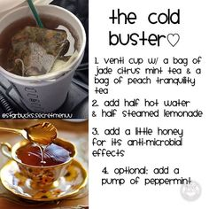 The Cold Buster♡ so next year you won't be sick. Thank you guys for an amazing year!! Till 2016 #starbuckssecretmenu