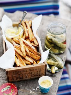 Sweet Potato Chips & Mustard Salt