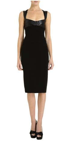 Gojee - Leather Strap Dress by Narciso Rodriguez