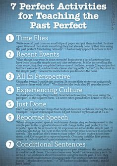 7 Perfect Activities to Teach the Past Perfect #Learn #Spanish