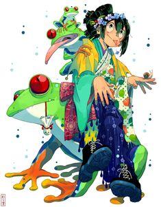 Asui Tsuyu - Boku no Hero Academia - Image - Zerochan Anime Image Board My Hero Academia Tsuyu, Buko No Hero Academia, My Hero Academia Manga, Game Character Design, Character Design Animation, Tsuyu Boku No Hero, Tsuyu Asui, Fanart, Hero Academia Characters