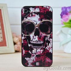 Punk Rose Skull Iphone Cases for Iphone 4/4s/5/5s