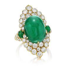 FD GALLERY | Van Cleef & Arpels | An Emerald and Diamond Ring, circa 1970