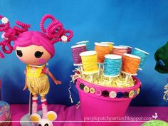 Lalaloopsy Party - Thread spool cake pops