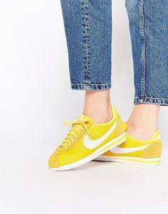 Image 1 of Nike Maize Yellow Classic Cortez Trainers Yellow Trainers e342f7cbe5d