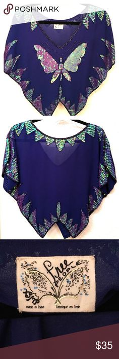 NWOT✨Free People Cute Top✨ Adorable sequin top!✨Amazing for night out✨great when pairing with high waist skirt or shorts Free People Tops Crop Tops