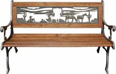 This Longhorn Skull Outdoor Bench will compliment any southwestern style decor. http://www.wildlifewonders.com/longhornskullbench.html