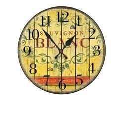 Relógio de Parede Vinho com 39 cm