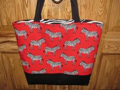 Zebra Bag by SewLeighMyOwn, $30.00