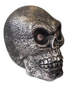 Décoration crâne géant lumineux et sonore 30 cm Halloween : Cette décoration…