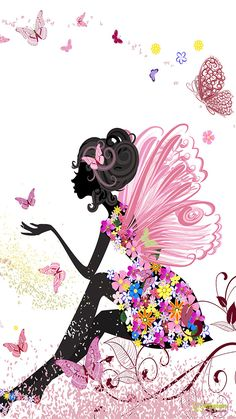 easiest way to decoupage shoes Fairy Wallpaper, Wallpaper Backgrounds, Iphone Wallpaper, Mobile Wallpaper, Butterfly Wallpaper Iphone, Screen Wallpaper, Phone Backgrounds, Butterfly Fairy, Pink Butterfly
