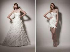 Convertible Wedding Dresses: 2011 Style Update on 2-in-1 Gowns | OneWed