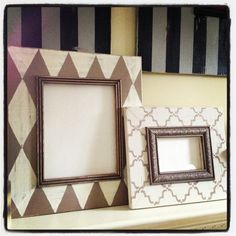 8x10 and 4x6 frame set in neutrals by KyGraceDesignsToo on Etsy, $76.00