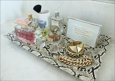 snake skin tray to display jewels and products ♥