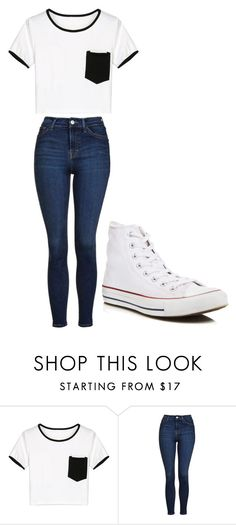 """Untitled #219"" by cruciangyul on Polyvore featuring WithChic, Topshop and Converse"