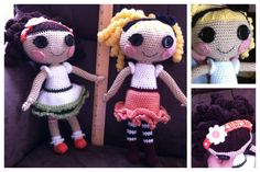 Lalaloopsy Amigurumi. These dolls are so fun to make! Here's the pattern... http://www.craftster.org/forum/index.php?topic=383978.0