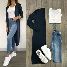 New Fashion Casual Hijabi Jeans 20 Ideas – Outfits – – Hijab Fashion 2020 Look Fashion, Hijab Fashion, Trendy Fashion, Fashion Dresses, Womens Fashion, Fashion Mode, Jeans Fashion, Trendy Style, Fasion
