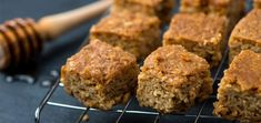 There's no need to resort to sugary, processed bars when you can easily make filling and nutritious squares like these peanut butter bars. High Protein Snacks, Protein Foods, Healthy Snacks, Keto Snacks, Healthy Recipes, Healthy Eating, Bariatric Recipes, Protein Recipes, Whey Protein