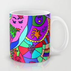 Abstract 27 Coffee Mug by lindatomei Bright Art, Coffee Mugs, Cups, Abstract, Tableware, Summary, Mugs, Dinnerware, Coffee Cups