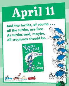 Love these poetic lines from Yertle the Turtle!