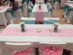 Pink and Blue Baby shower decorations