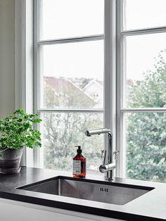 Crispy Images Of A Polished Apartment in Gothenburg | Scandinavian Living | L:A Bruket liquid soap; get yours here: http://www.atnumber67.co.uk/en/m/la-bruket-uk